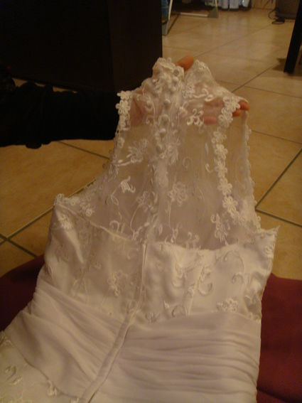 Robe de mariée d'occasion d'une grande finesse T40/42 à Lyon