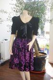Robe en velour noire et violet T42 - Occasion du Mariage