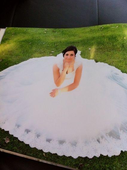 Robe de mariée d'occasion en 2013 en tulle et dentelle brodée