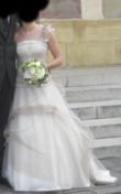 Robe de mariée Sacha Novia modèle Aurore de chez Hervé Mariage