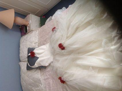 Robe de mariée d'occasion jupon + bustier dos nu
