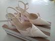 Chaussures de mariée couleur ivoire en parfait état