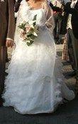 Robe mariée en Organza ivoire - Occasion du Mariage