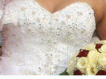 Robe de mariée Kelly Start en tulle et strass et cerceau