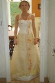 Robe de mariée Elsa Gary d'occasion avec étole, jupon et cerceau