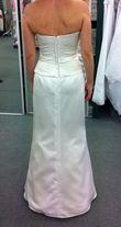 Robe de mariée bustier ivoire avec son jupon et son étole satin à Marseille