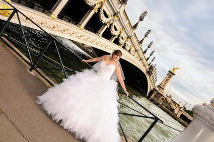 Robe de mariée Demetrios avec voile et jupon pas cher en 2013