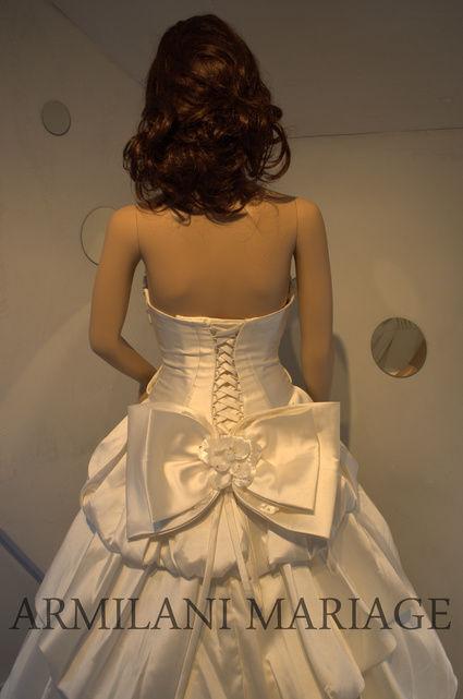 Robe de mariée en taffeta ivoire neuve avec petite traîne à Paris