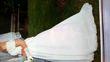 robe de mariée T.38 cerceau, gants - Occasion du Mariage