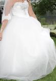 Robe de mariée avec voile + jupon  - Occasion du Mariage