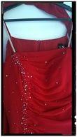 Robe de soirée rouge et strass marque SNW - Occasion du Mariage
