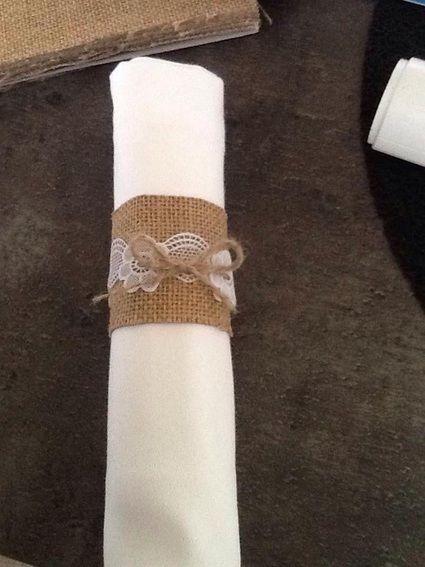 rond de serviettes en toile de jute d coration de mariage pas cher yonne. Black Bedroom Furniture Sets. Home Design Ideas