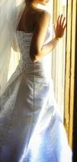 Robe de mariée tissu Jacquard + chaussures et bijoux offert