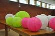 Lot de Lanternes boules deco - roses-vertes-blanches - Occasion du Mariage
