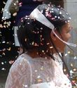 Bijou de cheveux brodé de nacres, perles et chaines argent - Occasion du Mariage
