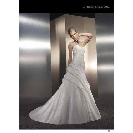 Robe de mariée Empire du mariage + voile + mitaines + chapeau