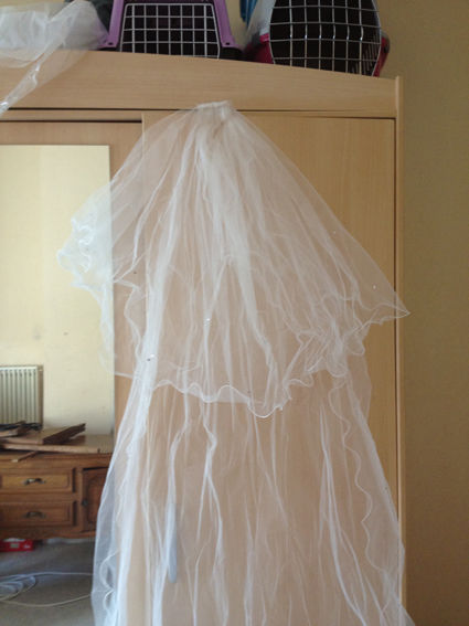 Voile mi-long de mariée avec peigne pas cher - Occasion du Mariage