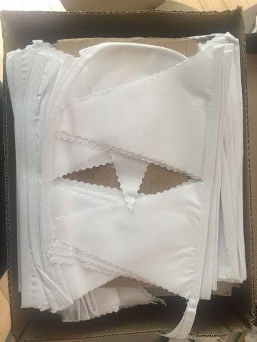 guirlande fanions blanc tissu paris. Black Bedroom Furniture Sets. Home Design Ideas