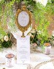 Marque table doré sur pied mariage - Occasion du Mariage