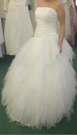 Robe de mariée EOLE de chez Point Mariage T40 couleur ivoire d'occasion