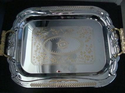 Plateau inox pour mariage style oriental - Neuf et Negociable
