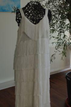 Robe de cérémonie blanche d'occasion pas cher T40 à franges - Occasion du mariage