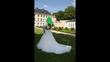 Robe de mariée très bon état voile, jupon et mitaine - Occasion du Mariage