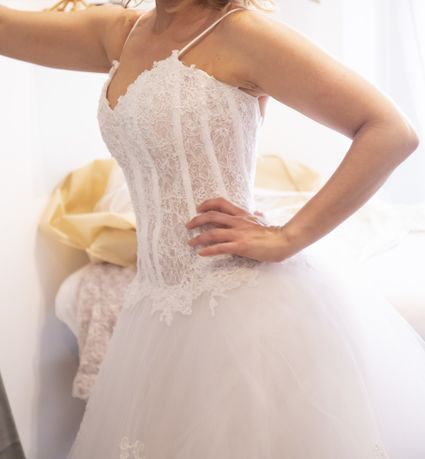 Robe de mariée originale + voile + boléro  - Hérault