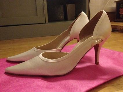 Chaussures de mariée Mademoiselle Rose escrapins T38 à Lyon