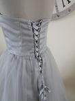 robe courte en tulle gris  - Occasion du Mariage