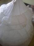 Robe de mariée Tati mariage en Taffetas, jupon et mitaines