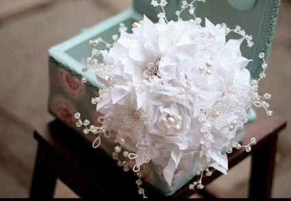 magnifique bouquet de mariée fait main - Réunion