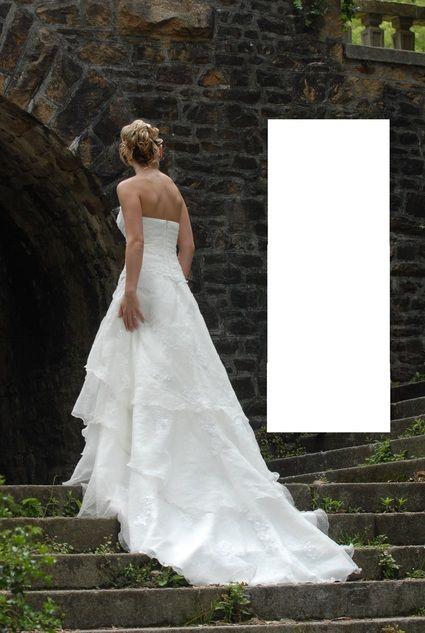 Robe de mariée ivoire + jupon + étole Les Mariées d'Aurélie