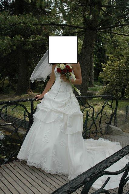 Robe de mariée d'occasion ivoire en tafta T38