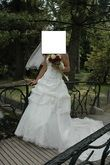Robe de mariée ivoire en tafta T38  - Occasion du Mariage