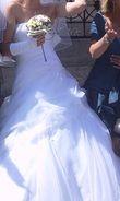 Magnifique robe de mariée bustier blanche d'occasion et pas cher en 2012
