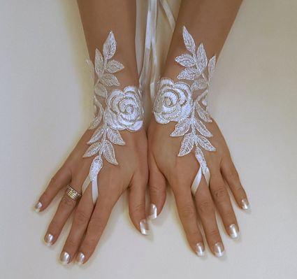 Gant de mariée Ivoire  - Yvelines