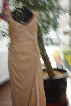 Robe de mariage pas cher couleur pêche T38 2012 - Occasion du mariage