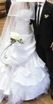Robe de mariée Pronuptia originale avec voile et jupon d'occasion en 2013