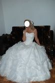 Robe de mariée bustier brodé en 2 pièces pas cher - Occasion du Mariage