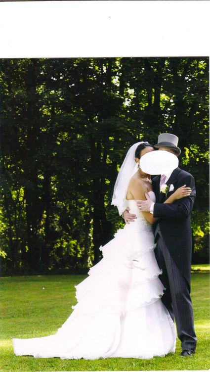 Robe de mariée Divina Sposa d'occasion couleur champagne Paris
