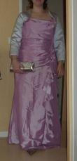 Robe en taffetas de marque Créatif Paris taille 46 vieux rose