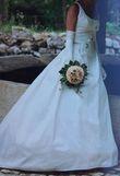 Robe créateur en soie T 36/38 - Occasion du Mariage