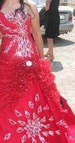 Magnifique robe rouge pailletée d'occasion idéale mariage