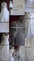 Robe de mariée Dentelle et perles modèle rare