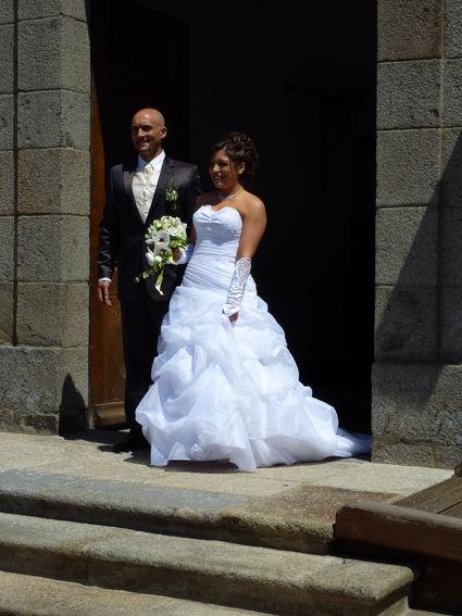 Robe de mariée pas cher ave corset et jupon - Bretagne 2012 - Occasion du mariage