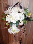 bouquet mariee noir et blanc fleur artificielle - Occasion du Mariage