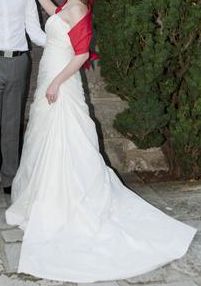 Robe de mariée Pronuptia modèle Naturelle Allure 2012 en soie sauvage