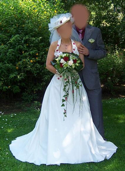 Robe de mariée Morelle Mariage avec jupon et parure de bijoux - Occasion du Mariage