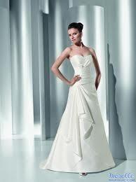 Robe de mariée Démétrios d'occasion en satin et sans manches